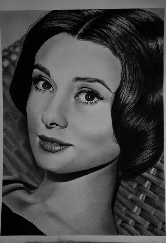 audrey drawing